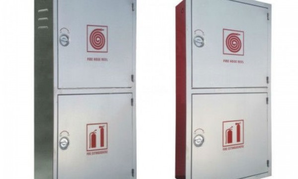Fire Hose Reel Cabinet - Double Stainless Steel Door