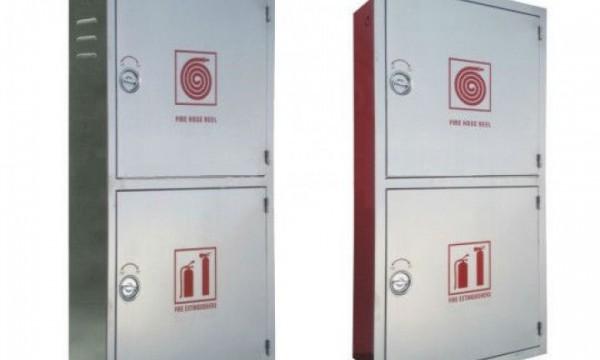 Fire Hose Reel Cabinet - Double Stainless Steel Door