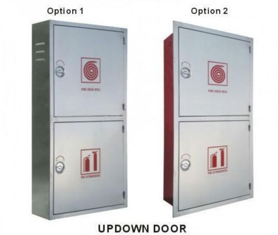 Fire Hose Reel Cabinet - Double Stainless Steel Door Bahrain